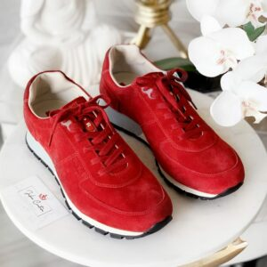 Prada Red Suede Sneakers